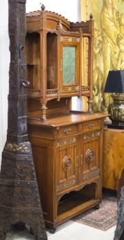 Cabinet - solid wood, brass - 1910