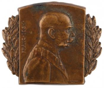 Badge with a portrait of Franz Joseph I fo the cap