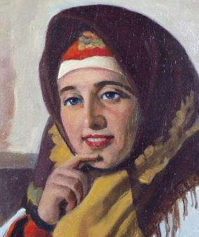 Viktor Voroncov - Russian woman in scarf