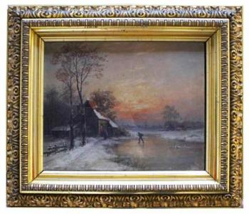 Winter Landscape - Georg Sommer - 1875