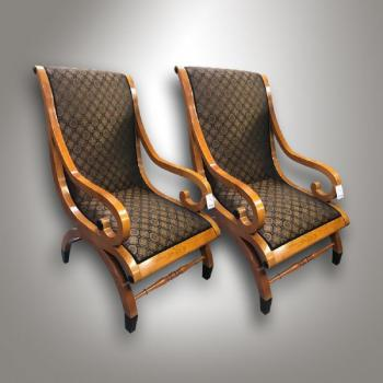 Pair of Armchairs - cherry wood - 1850