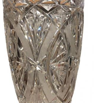 Vase - crystal, clear glass - 1930