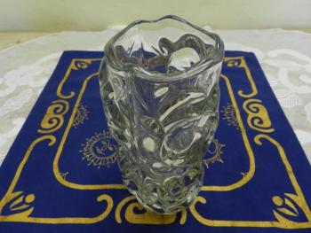 Vase - clear glass, metallurgical glass - 1970