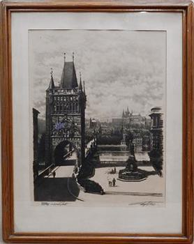 Charles Bridge of Prague - Josef Vaic (1884 - 1961) - 1930