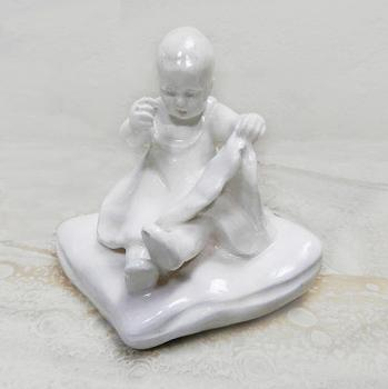 Porcelain Figurine - white porcelain - 1920