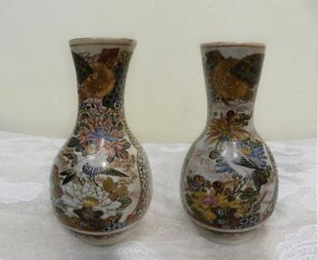 Pair of Porcelain Vases - white porcelain - 1930