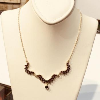 Czech Garnet Necklace - 1960
