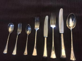Silver cutlery set (for 6 persons)