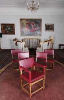 Chair Sets - solid oak - 1850