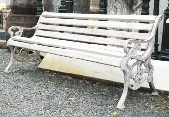 Bench - wood, cast iron
