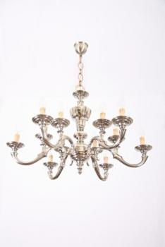 Chandelier - white metal - 1990
