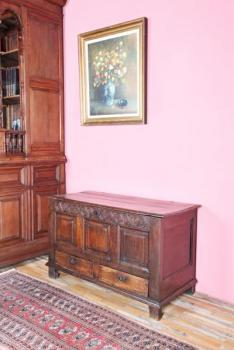 Chest - solid oak - 1810