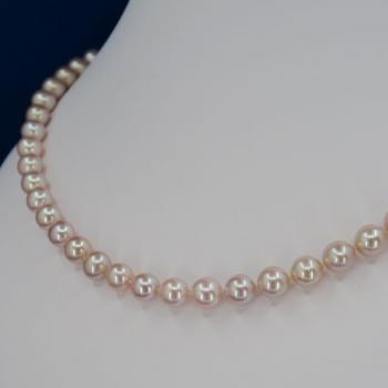 Pearl Necklace - gold, pearl - 1970