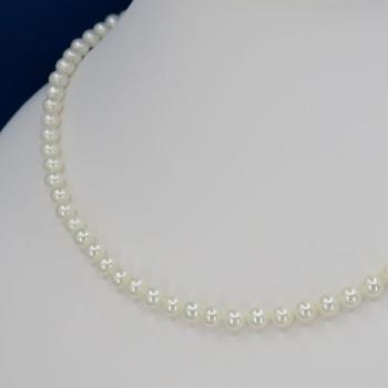 Pearl Necklace - silver, pearl - 2020
