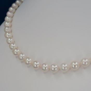 Pearl Necklace - gold, pearl - 2020