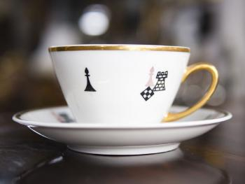 Cup and Saucer - porcelain