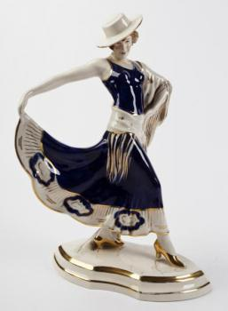 Porcelain Girl Figurine - Royal Dux - 1925