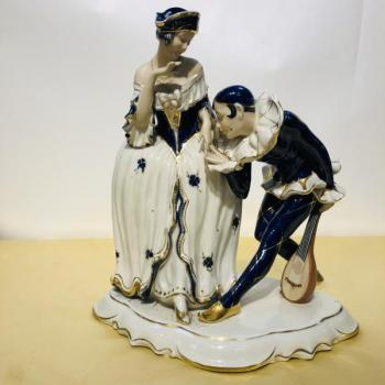 Porcelain Group of Figures - Royal Dux - 1923