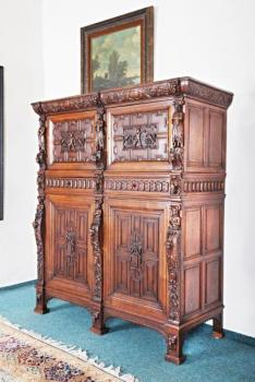 Wardrobe - solid oak - 1890