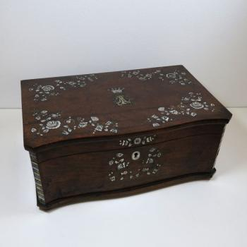 Jewelry Box - wood, mahogany - 1870