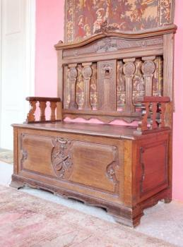 Chest - solid oak - 1850