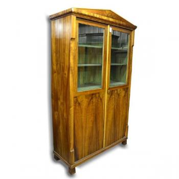 Bookcase with Glazed Doors - solid walnut wood - 1830