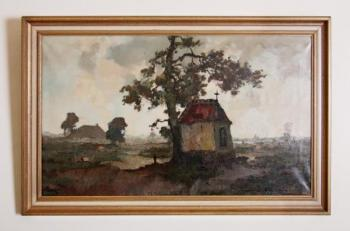 Landscape - wood, canvas - Henry Pauwels  - 1930