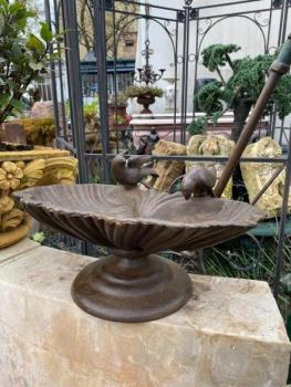 Garden Bird Bath - cast iron - 1980
