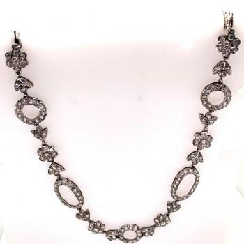 Brilliant Necklace - platinum, brilliant cut diamond - 1930