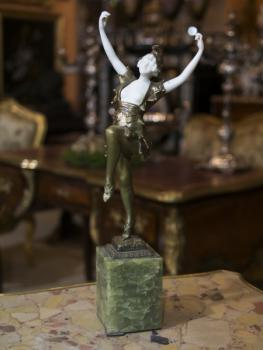 Dancer - bronze, marble - Georges Omerth - 1900