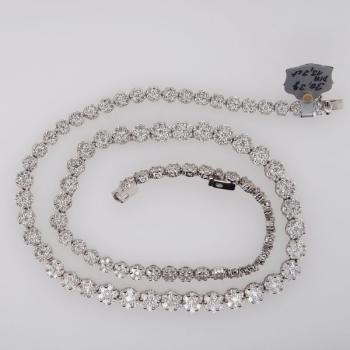 Brilliant Necklace - white gold, brilliant cut diamond