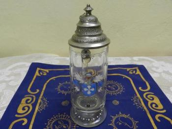 Glass Tankard - metal, glass - 1900