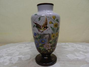 Vase - glass, milk glass - 1850
