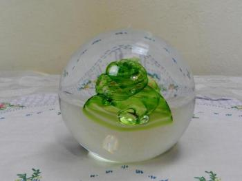 Glass Paperweight - glass, clear glass - 1950