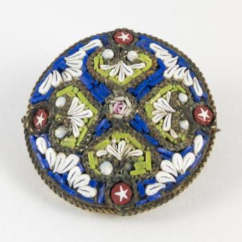 Brooch - metal, glass - Itálie, Murano - 1880