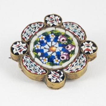 Brooch - metal, glass - Itálie, Murano - 1910