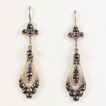 Earrings with Garnets - 1935