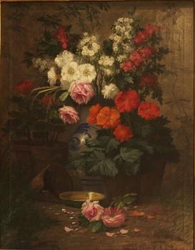 Still Life with Flowers - 1850