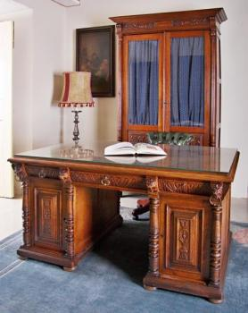 Writing Table - solid wood, solid oak - 1895
