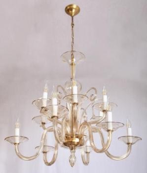 Twelve Light Chandelier - glass - 1935