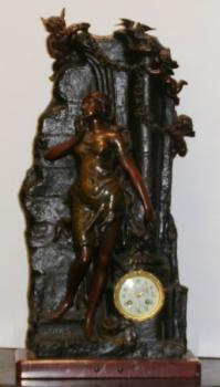French fireplace clock