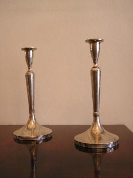 Pair of Silver Candelsticks - 1920