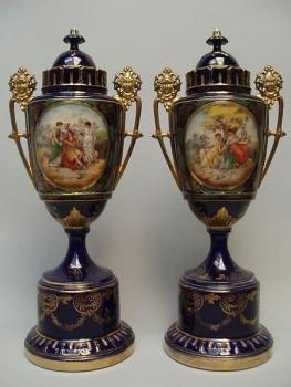 Pair of Porcelain Vases - Trnovany - 1930