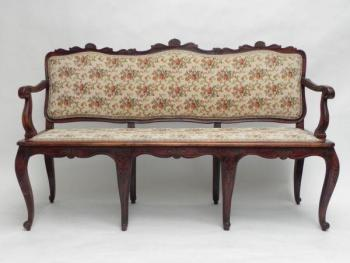 Bench - solid walnut wood - 1930