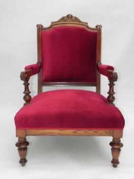 Armchair - solid walnut wood - 1880