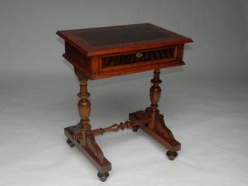 Sewing Table - solid wood, walnut veneer - 1890