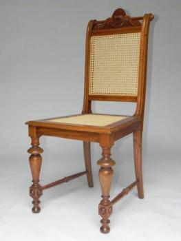 Chair - wood, solid walnut wood - 1880