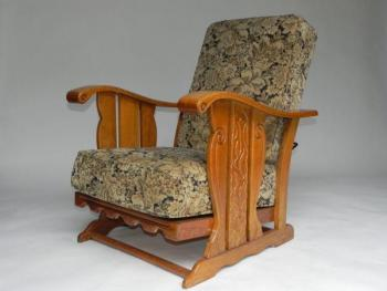 Positioning Chair - solid oak - 1950