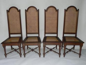 Four Chairs - solid oak - 1830