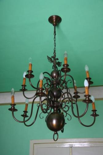 Twelve Light Chandelier - 1950